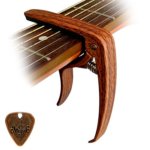 Cantus-Capodastre-pour-guitare-Alliage-de-Zinc-Couleur-Bois-avec-broches-Extracteur-0
