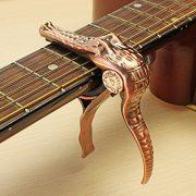Guitare-lectrique-acoustique-Banjo-ukull-Bronze-Crocodile-Capodastre--changement-rapide-0