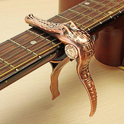 Guitare-lectrique-acoustique-Banjo-ukull-Bronze-Crocodile-Capodastre–changement-rapide-0