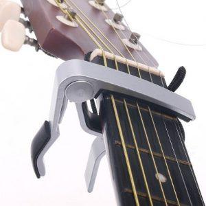 Kingken-professionnel-ddi-Dclencheur-de-Alliage--une-seule-main-Capodastre-pour-guitare-Changement-rapide-Sliver-0