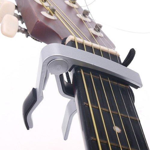 Kingken-professionnel-ddi-Dclencheur-de-Alliage–une-seule-main-Capodastre-pour-guitare-Changement-rapide-Sliver-0