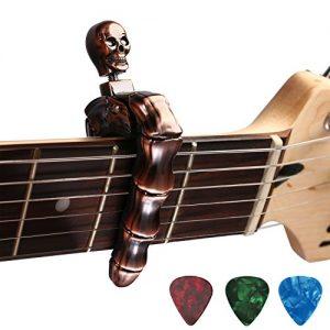 Asmuse-Capodastre-Universel-pour-Guitare-Electrique-Classique-Acoustique-Capo-Unique-de-Crne-en-Alliage-de-Zinc-de-Haute-Qualit-avec-3-Plectres-pour-Basse-Guitare-Folk-Banjo-Ukull-Mandolin-Bronze-0