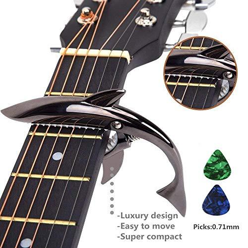 Capodastre-en-forme-de-requin-en-alliage-de-zinc-pour-guitare-acoustique-et-lectrique–6-cordes-bonne-sensation-en-main-ne-fait-pas-vibrer-les-frettes-durable-Noir-0
