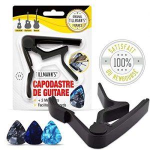 Tillmanns-Capodastre-Guitare-classique-6-Mdiators-Guitare-Electrique-Acoustique-Capo-Pince-En-Alliage-de-Zinc-Pour-UkullGuitareBanjoGuitares-0