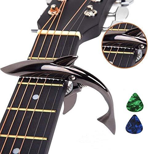 Imelod-Capodastre-de-guitare-en-alliage-de-zinc-Capodastre-Shark-pour-guitare-acoustique-et-lectrique-avec-une-bonne-sensation-de-main-pas-de-fret-buzz-et-durableNoir-0