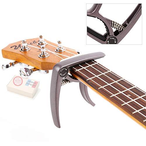 TAKIT-Capodastre-pour-Guitare-Acoustique-et-Electrique-GARANTIE–VIE-Qualit-professionnelle-Marron-0