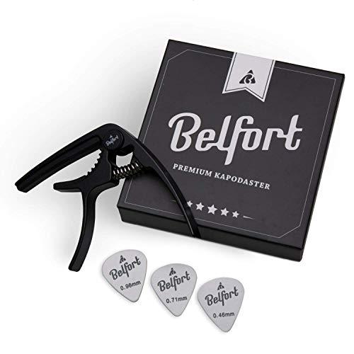 BELFORT-Capodastre-pour-guitare-3-mdiateurs–Facile–utiliser–Capo-pour-guitares-Acoustique-classique-lectrique-Ukulele-0