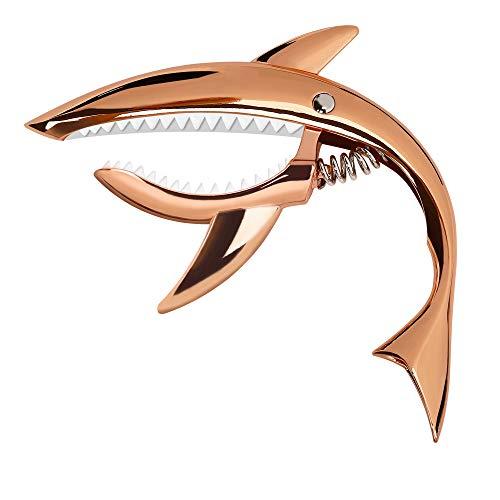 Capodastre-de-Guitare-en-Alliage-de-Zinc-Capodastre-Shark-pour-Guitare-Acoustique-et-Electrique-Ukull-Banjo-Mandoline-Basse-Or-Rose-0