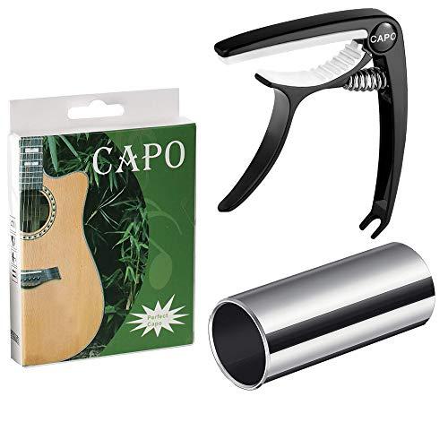 Fansjoy-Capodastre-Guitare-Glissoir-de-Guitare-Noir-Capo-Guitare-Slide-de-Guitare-Moyenne-en-Acier-Inoxydable-Argent-60mm-pour-Guitares-Folk-Acoustiques-lectriques-Classiques-Ukulele-Basse-0