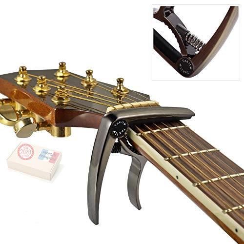 TAKIT-Capodastre-pour-Guitare-Acoustique-et-Electrique-GARANTIE–VIE-Qualit-professionnelle-Bronze-0